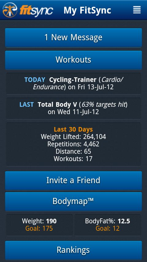 FitSync®- screenshot
