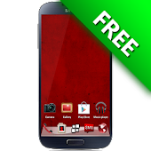 i Like Red GO Launcher Theme