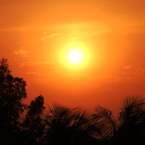 Sunset On My Window by Arif Hossain - Landscapes Sunsets & Sunrises ( bangladesh, best photography, arif hossain photography, arif, photography )