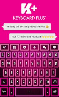 Glow Pink klávesnice - náhled