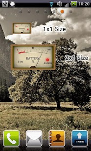 Analog Battery Widget - screenshot thumbnail