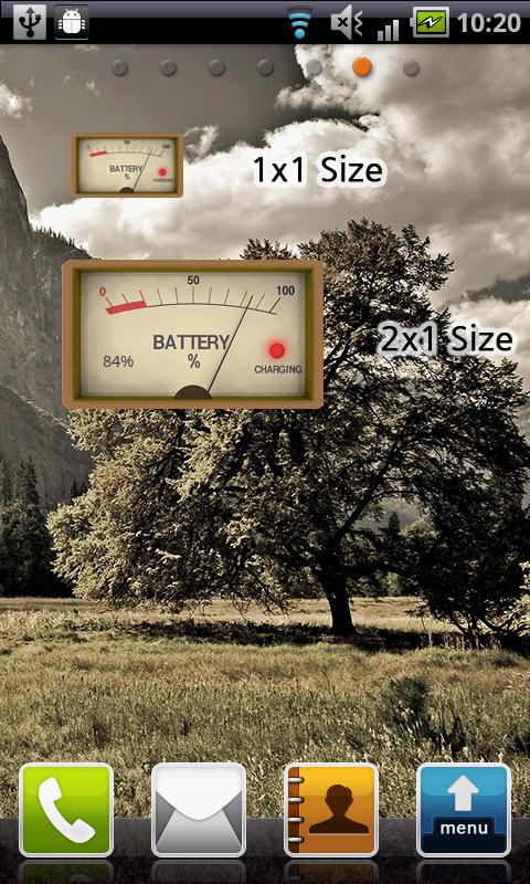 Analog Battery Widget - screenshot