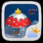 圣诞主题 GO天气EX icon