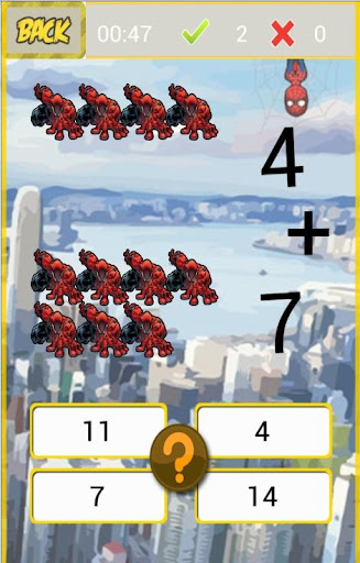 Spidy Easy Math Kids Game