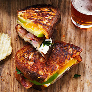 Tomatillo Grilled Cheese and Bacon Sandwiches.