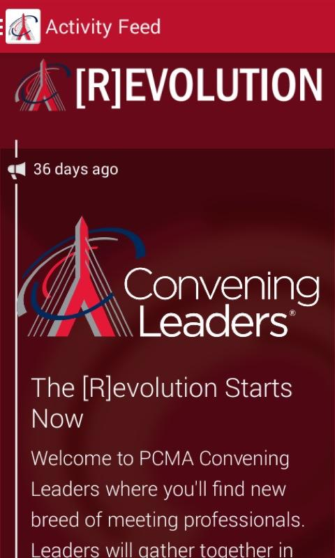 2014 PCMA Convening Leaders - screenshot