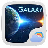 Galaxy Theme GO Weather EX