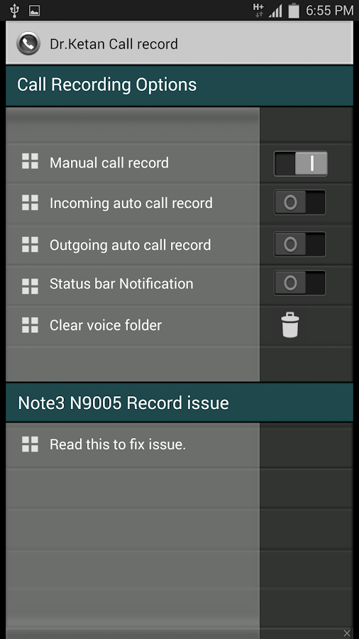 Dr.Ketan Auto Call Record - screenshot