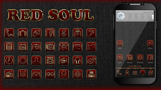 Red Soul Go Launcher Ex Theme