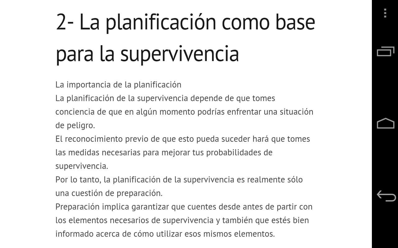 Tecnicas de Supervivencia - screenshot