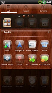 Mahogamy Wood GO Launcher EX- screenshot thumbnail