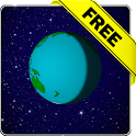 Cartoon earth lwp Free icon