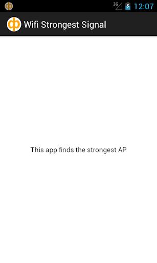Wifi Strongest signal
