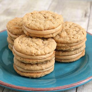 Peanut Butter Oatmeal Sandwich Cookies.