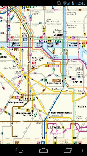 巴黎公交地圖