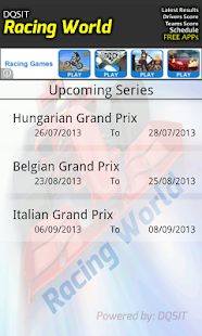Motor Racing Schedule & Result - screenshot thumbnail