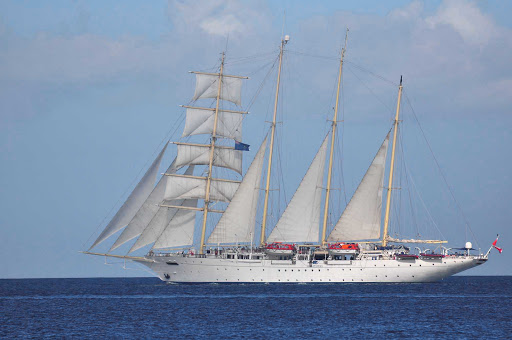 star-clipper-British-Virgin-Islands - The Star Clipper sailing in the British Virgin Islands.