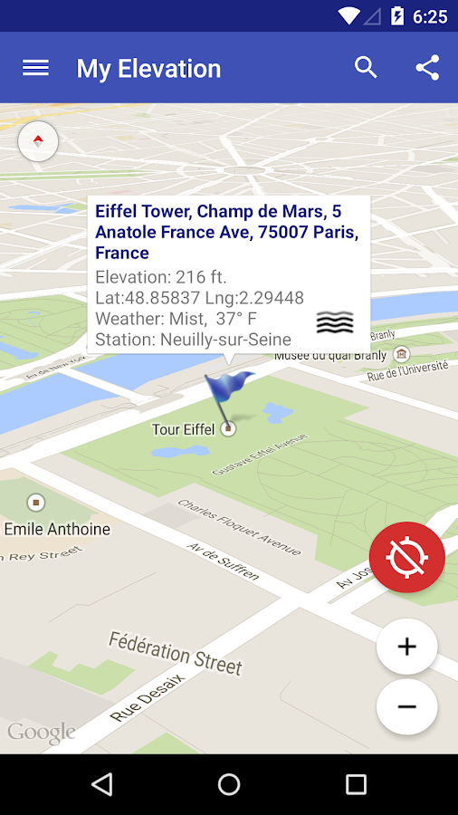 My Elevation Android Apps On Google Play - How to check sea level from google map