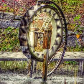 Well in the Park by Nat Bolfan-Stosic - City,  Street & Park  City Parks ( water, park, bridge, well, city )