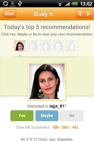 Shaadi.com Matrimonial App - screenshot