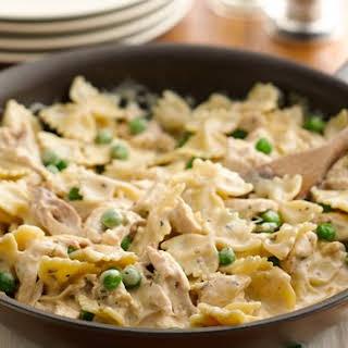 Rotisserie Chicken and Bow-tie Pasta.