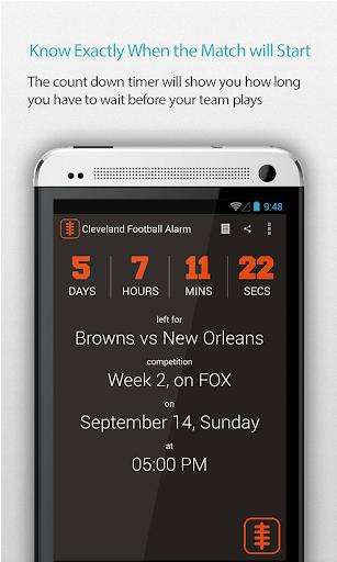 Cleveland Football Alarm Pro
