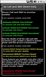 Qs Call & SMS Divert Lite - screenshot thumbnail