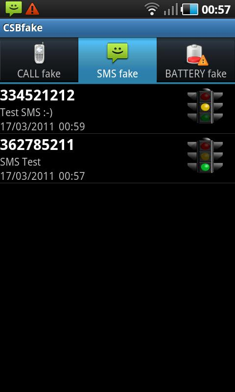 CSBFake Call/SMS/Battery - screenshot