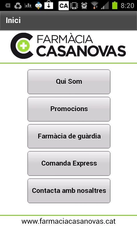 Farmàcia Casanovas - screenshot