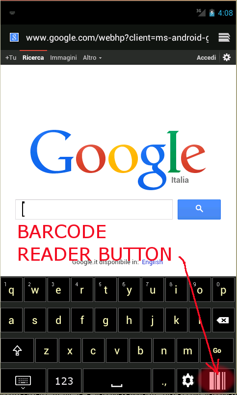 Keyboard + BARCODE SCANNER- screenshot