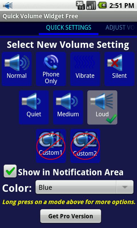 Quick Volume Widget Free - screenshot