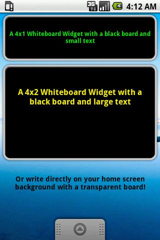 Widget Notes - Whiteboard - screenshot