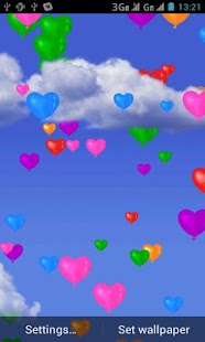 Heart Balloons Live Wallpaper - screenshot thumbnail