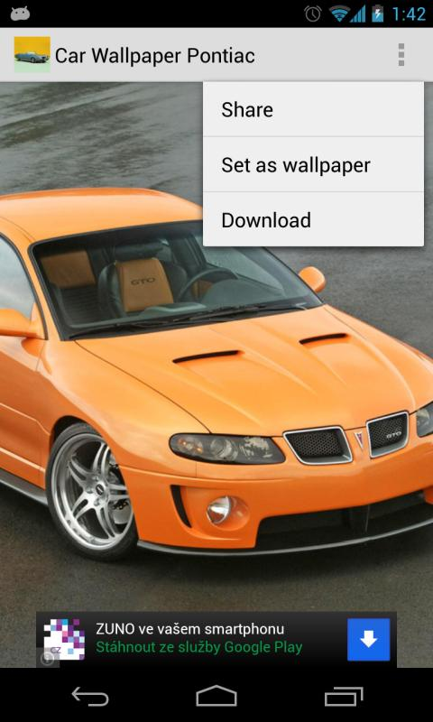 Car Wallpaper Pontiac - screenshot