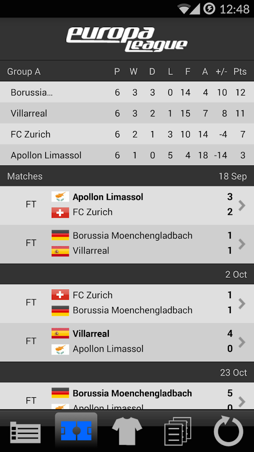 europa league livescore