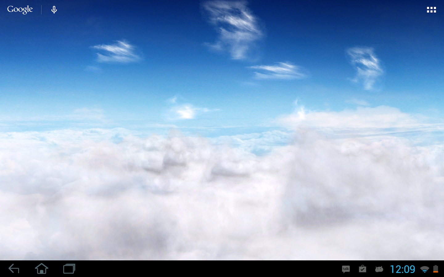 Blue Skies Live Wallpaper - screenshot