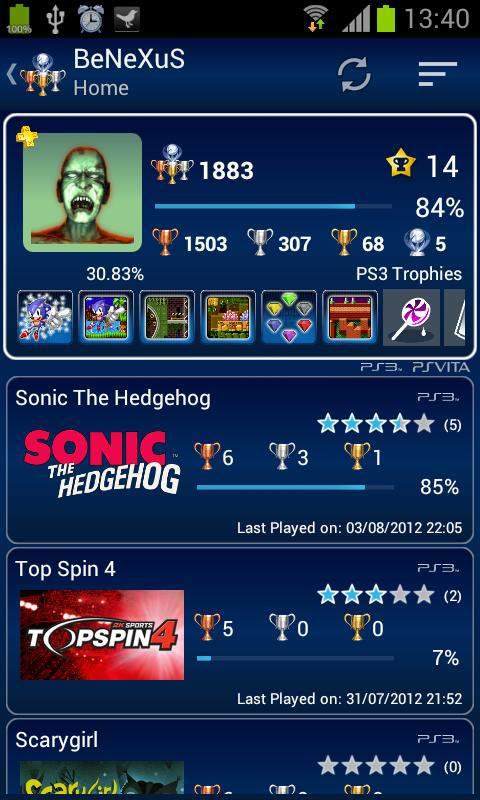 PS3 Trophies Lite - screenshot