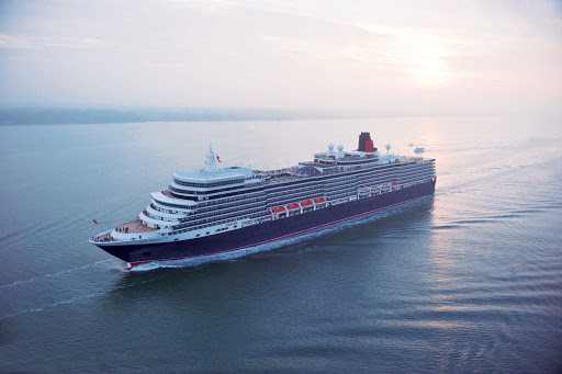 Cunard-Queen-Elizabeth-at-sea-2 - Queen Elizabeth, Cunard's newest luxury cruise ship, has won multiple awards for its features.