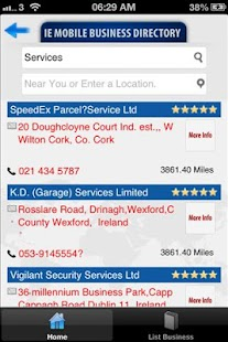 IE Mobile Business Directory- screenshot thumbnail