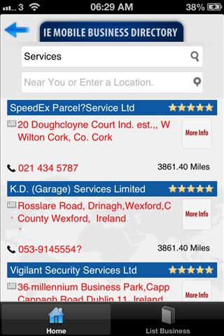 IE Mobile Business Directory- screenshot