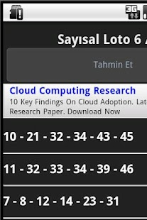 Sayisal Loto 6/49 Tahmin - screenshot thumbnail