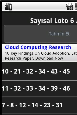 Sayisal Loto 6/49 Tahmin - screenshot