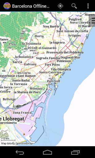 Barcelona Offline City Map