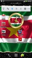 Screenshot of Suriname flag clocks