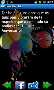 Mensagens de Aniversário (SMS)- screenshot thumbnail
