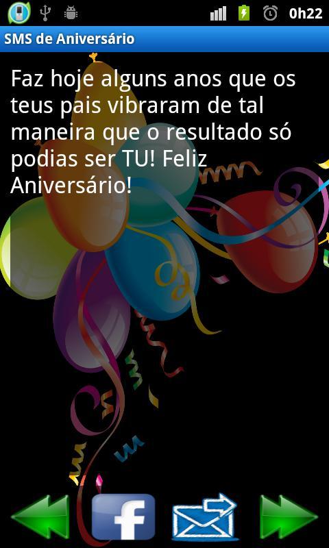 Mensagens de Aniversário (SMS) - screenshot