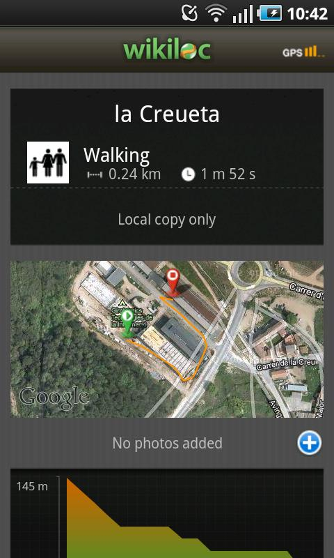 Wikiloc outdoor navigation GPS - screenshot