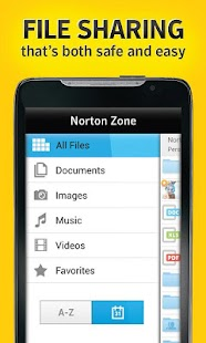Norton Zone cloud sharing - screenshot thumbnail