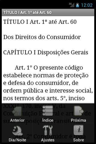 Código de Defesa do Consumidor - screenshot