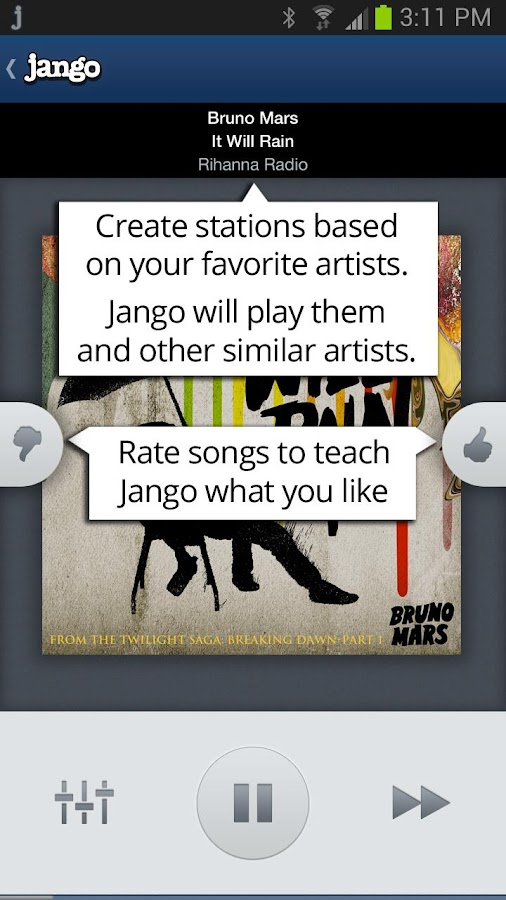 Jango Radio- screenshot